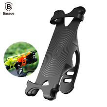 Baseus Universal Bicycle Phone Holder For iPhone 7 Samsung Anti-Slip Bike Mount Mobile Phone Holder Stand Handlebar Clip Bracket