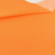 White Dot Design Orange Cotton Fabric Printed Patchwork Sewing Bed Sheet Crafts Dolls Clothes Fat Quarter Art Work Meter Fabric(Китай)