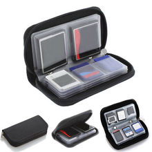 JETTING Black Memory Card Storage Carrying Case Holder Wallet 18slots + 4 slots For CF/SD/SDHC/MS/DS 3DS Game accessory(China)