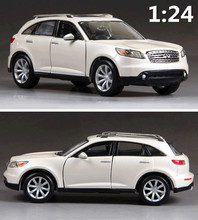1:24 alloy car,high simulation model cars Infiniti FX45 Suv, metal diecasts, coasting,toy vehicles, free shipping