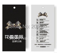 High grade metal eyelet hole punched Hang Tag paperboard printed hangtag min 3000pcs/lot min.order(China)