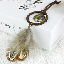3Pcs Mini Dream Catcher Key Chain Ring with Feather Bead Keyring Keychain Hanging Ornament Decoration Art Craft Gifts