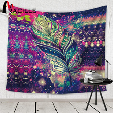 Miracille Indian Wall Tapisserie Bohemian Decor Beach Towel Tapestry Wall Hanging For Home Yoga Mat Color Bedspread 2 Size(China)