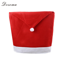 4pcs/lot Fashion Santa Clause Cap Red Hat Furniture Chair Back Cover Christmas Dinner Table Party Xmas New Year Decoration(China)