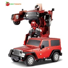 Free Shipping Jeep Reg Car Models Deformation Robot Transformation Remote Control RC Car Toys for Children Kids Gift TT665(China)
