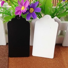 Wholesale Custom White/Black Hang Tag Size :8*4cm Wedding Tag Packing Gift Box Baker Garment Tag