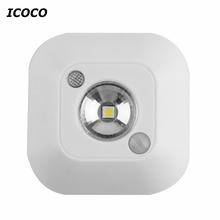 Wireless Ceiling Lights Infrared Motion Sensor Ceiling Night Lights Mini luminaria Lamps LED Ceiling Light Lighting Porch Lamp(China)
