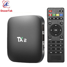 5PCS UP TX2 R2 Android 6.0 Smart TV BOX 2GB 16GB EMMC Rockchip RK3229 Quad Core H.265 4K 60tps 2.4GHz WiFi BT2.1 Media Player