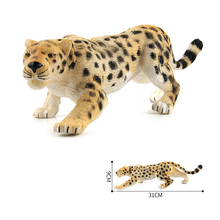 Simulation Wild Animal Leopard Plastic Model Action Figure Toys For Collection Learning Kids Gifts #E(China)