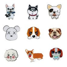 Big Discount 5 pcs Cartoon Famous dog figure magnetic stickers wholesale Acrylic Fridge Magnets Creative Refrigerator Sticker(China)