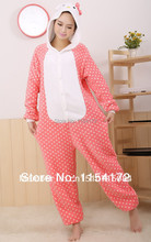 Pink hello  kitty  Anime adult onesies Pyjamas Cartoon Animal Cosplay Costume Pajamas adult Onesies Sleepwear Halloween
