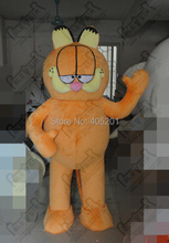 full foam build Garfield mascot costumes character cartoon orange cat costumes(China)