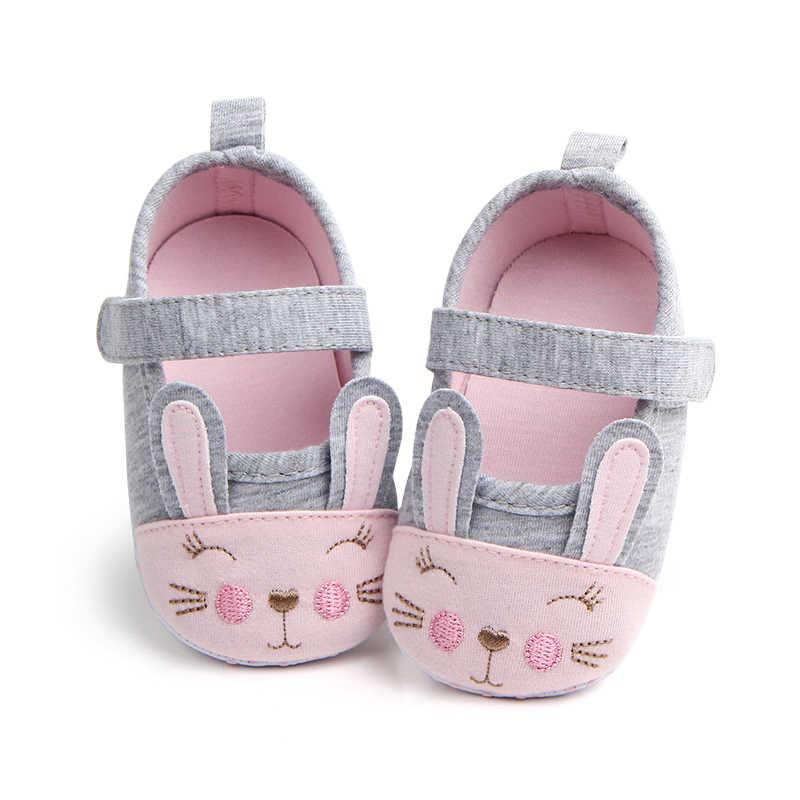 db5d8566cd6 Infant Toddler Baby Girls Shoes Princess Footwear Cartoon Rabbit First  Walkers Gittered Mary Jane Kids Bebe