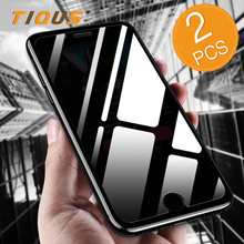 TIQUS Screen Protector For iPhone X 7 6 Plus Tempered Glass Protection HD Film For iPhone 8 6 7 Plus Protective Glass 2 Pieces(China)