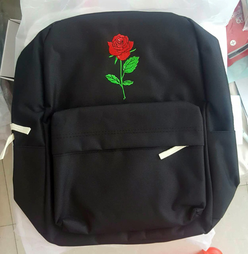 rose canvas backpack bag (2)
