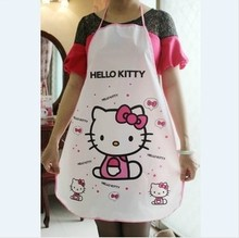 2014 Promotion Direct Selling Delantal Cocina 70*50cm Kawaii Hello Kitty Pe Waterproof Anti-oil Apron Cartoon Aprons K6430