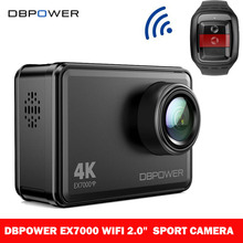 "DBPOWER Original EX7000 WIFI Sport Camera HD 1080P Waterproof 4K/25fps Action Camera with 2.0"" Touch Screen Head Video Camera(China)"
