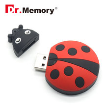 Dr.Memory Cute Ladybug USB Flash Drive 16gb real capacity Pen Drive 32GB 16GB cartoon USB2.0 Memoria stick Flash Drive Pen