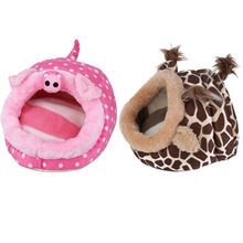 Giraffe/Pig Hamster Hammock Bed House Rat Bird Squirrel Pet nido pajaro Lint Warm Cage Nest Hut In Mini Hamster Supplies Toy(China)