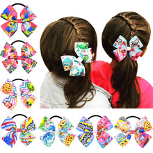 Lovely Pinwheel Shopkins Hairbows For Girls Baby Infant Toddlers Small Hair Bow With Elastic Band Cute Hairbow Hair Accessories
