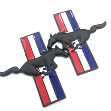 Pair 3D Horse Symbol Car Auto Metal Alloy Body Emblem Badge Stickers for Ford Mustang BOSS 302 Laguna Seca(China)