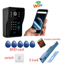 Free Shipping  Color Video Doorphone Wifi Intercom Doorbell System Video Intercom Door Phone WiFi Wireless Door Intercom