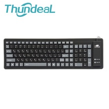 103keys Russian Keyboard Letters Wire USB Interface Silicon Teclado Layout Russian Version Keyboards Teclado PC Desktop Laptop(China)