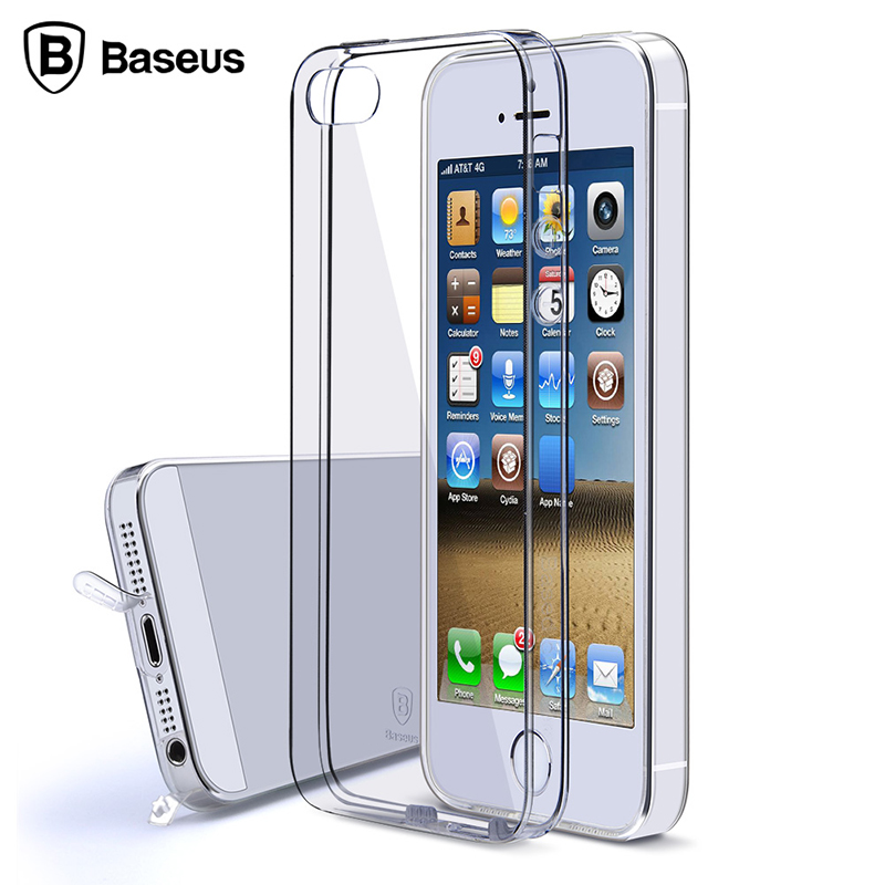 For Apple iPhone 5S Case Soft Silicone Cover For iPhone 5 5S SE Luxury Transparent TPU Silicon Coque For iPhone 5 Case BASEUS(China (Mainland))