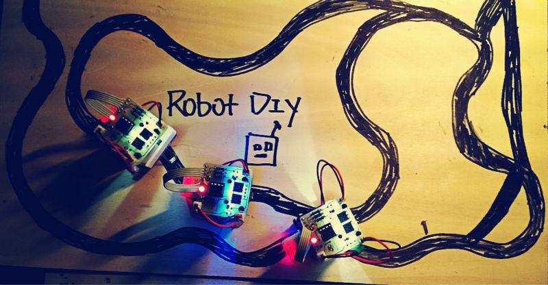 Electronic assembly kits robot diy kits Line Following car<br><br>Aliexpress