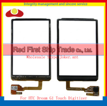 "10Pcs/lot High Quality 3.2"" For HTC Dream G1 Touch Screen Digitizer Sensor Glass Lens Panel Black+Tracking Number"