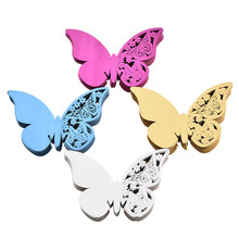 Buy 50pcs/set Laser Cut Butterfly Wedding Party Table Name Place Card Wedding Party Decoration Supplies Name Cards Wine Glass for $2.92 in AliExpress store