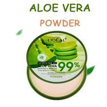 Natural Aloe Vera Liquid Anti-Inflammatory Acne Indian Mascara Facial Moisturizing nourishing aloe powder cake(China)