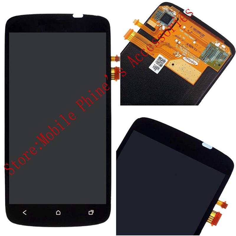New 100% Test LCD Touch Screen Glass Digitizer Assembly + Front Housing For HTC One S Black With Free Tools<br><br>Aliexpress