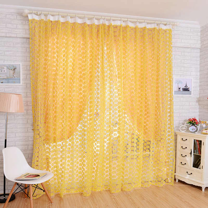 1pc New Pink Tulle Door Balcony Curtains for Voile Curtain for Bedroom Living Room Decoration 1M * 2M Valance Window Screens