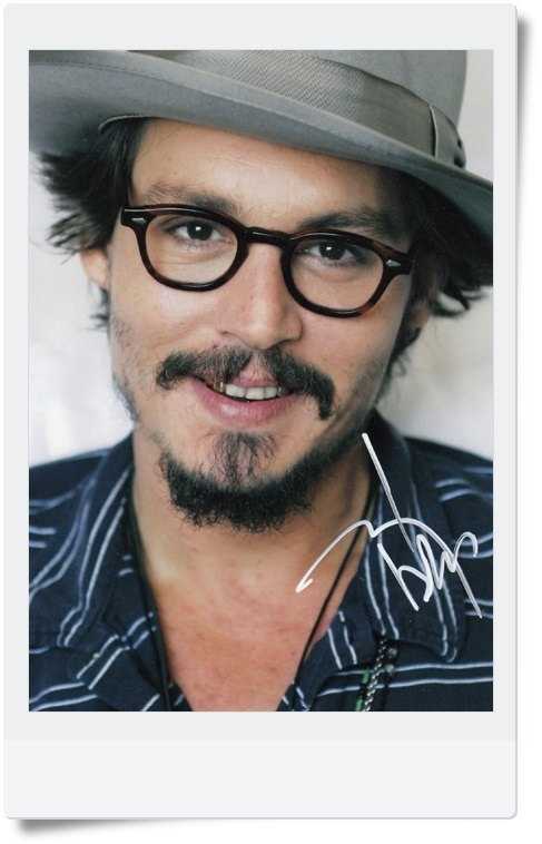 signed Johnny Depp  autographed  original photo 7 inches 5 versions chosen  freeshipping 062017 A<br>
