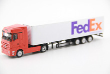 1:87 Scale freight train truck America FedEx Express Diecast Alloy Container Truck Model Cars Collection Kids Toys brinquedos