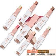 Double Color Eyeshadow Stick Stereo Gradien Shimmer Color Eye Shadow Cream Pen Eye Makeup Palette Cosmetics(China)