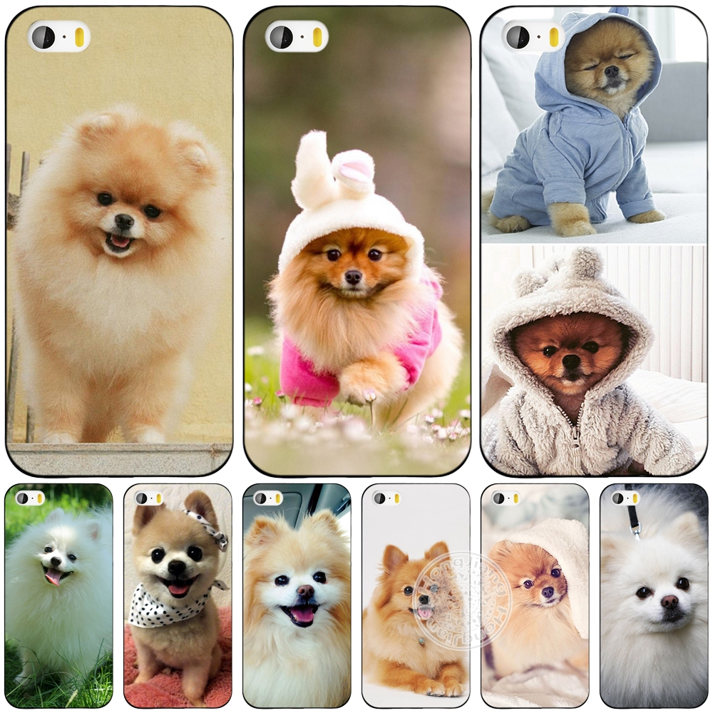 dogs perro pomeranian puppy cute cell phone Cover case for iphone 6 4 4s 5 5s SE 5c 6 6s 7 plus case for iphone 7(China (Mainland))