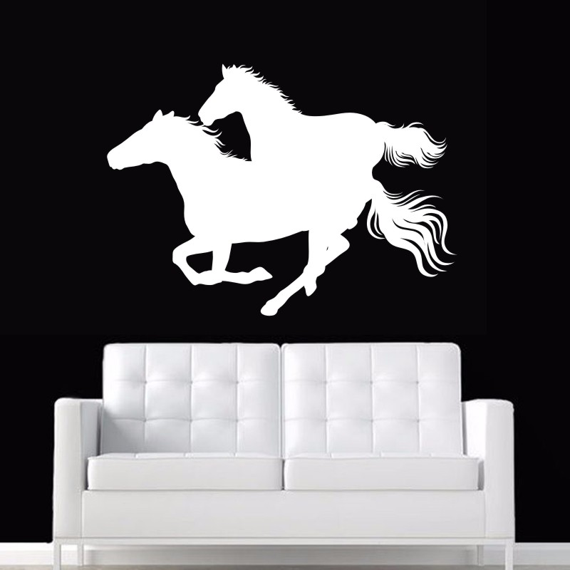 DCTAL Horse Wall Sticker El caballo Decal Cheval Posters Vinyl Wall Art Decals Pegatina Car Decal Decor Mural Animal Sticker