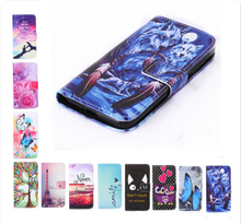 Wallet Phone cover Rose Flower Tower Painting Leather Case For Meizu M2 Note Meilan Note2 / M3 Note Meilan Note3 / M2 mini