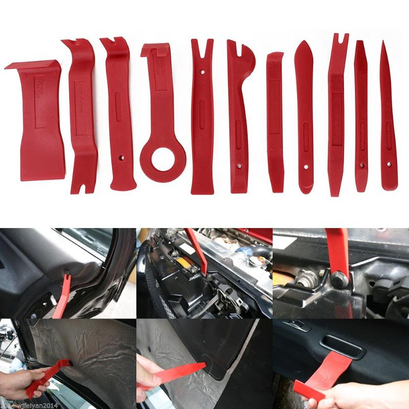 13Pcs Auto Car Radio Panel Interior Door Clip Panel Pry Tool Trim Dashboard Removal Opening Tool Set Diy Car Repair Tool Pry Kit