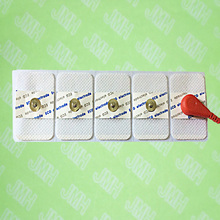 50pcs Snap EKG Cable Electrode adapter Suitable for ECG 3.5 snap cable adult white Non-woven disposable electrode pad(China)
