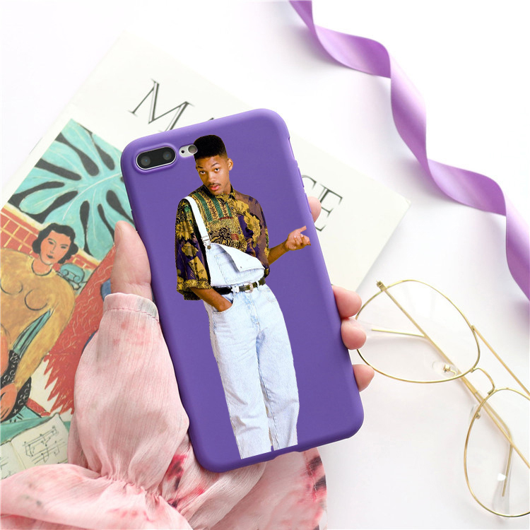 The fresh prince of bel air Candy Color TPU Case For iphoneX XS XR XSMAX FRESH Red Yellow purple White GREEN CASE Cover
