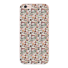 Kawaii Harry Potter Doodle design For iphone 4 4S 5 5S 5C SE 6 6S 7 Plus cover case For Samsung Galaxy S3 S4 S5 S6 S7 edge G9350