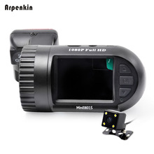 Arpenkin Mini 0801S Car Dash Camera Full HD 1080P Video Registrar Dual Lens Backup Rearview Parking Monitor GPS Cam DVR Recorder(China)
