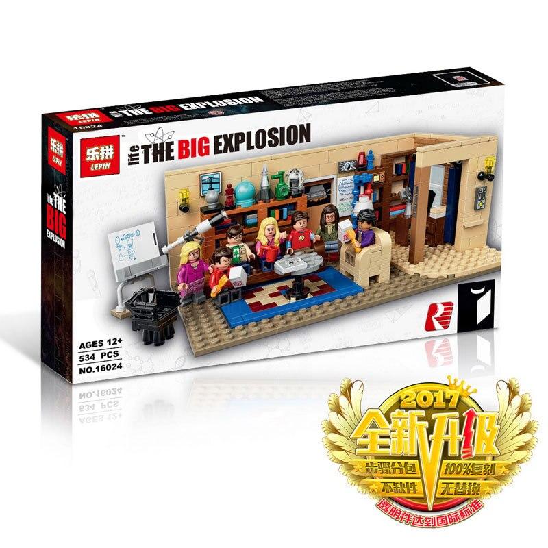Nuevo 16024 Ideas de la Serie The Big Bang Theory de Edificio Modelo sistema del bloque Compatible 21302 clasico casa salon<br>