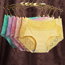 9887 New Sexy High-end Seamless Comfortable Breathable Fabric Mid-rise Bamboo Fiber One Code Underwear Panties Women 3pcs/lot