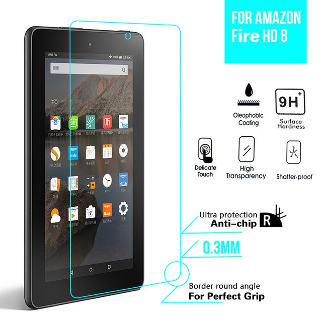 2.5D 0.3mm For Kindle Fire HD 8 Glass Screen Guard For Amazon Kindle Fire HD8 HD 8 Tempered Glass Protective Film 2015 Version