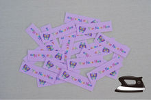 48  Name Custom Labels - Organic Cotton Personalized Tags with Calligraphy Script