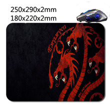 From Dragon Custom Rubber Gaming Mouse Mat Non-slip Durable Fashion Computer and Laptop Mouse Pad 220*180*2 mm Or 290*250*2mm